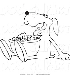 1024x1044 drawings of dogs outlined dog munching on popcorn dog clip art [ 1024 x 1044 Pixel ]