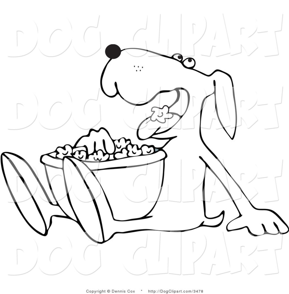 medium resolution of 1024x1044 drawings of dogs outlined dog munching on popcorn dog clip art