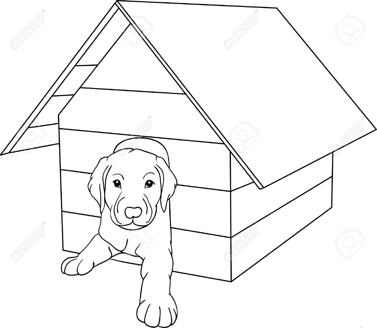 Doghouse Drawing At Getdrawings