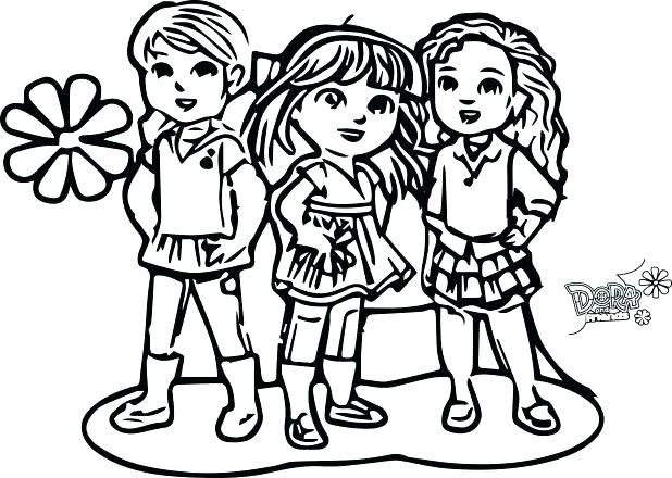 Dora And Friends Drawing At Getdrawings Com