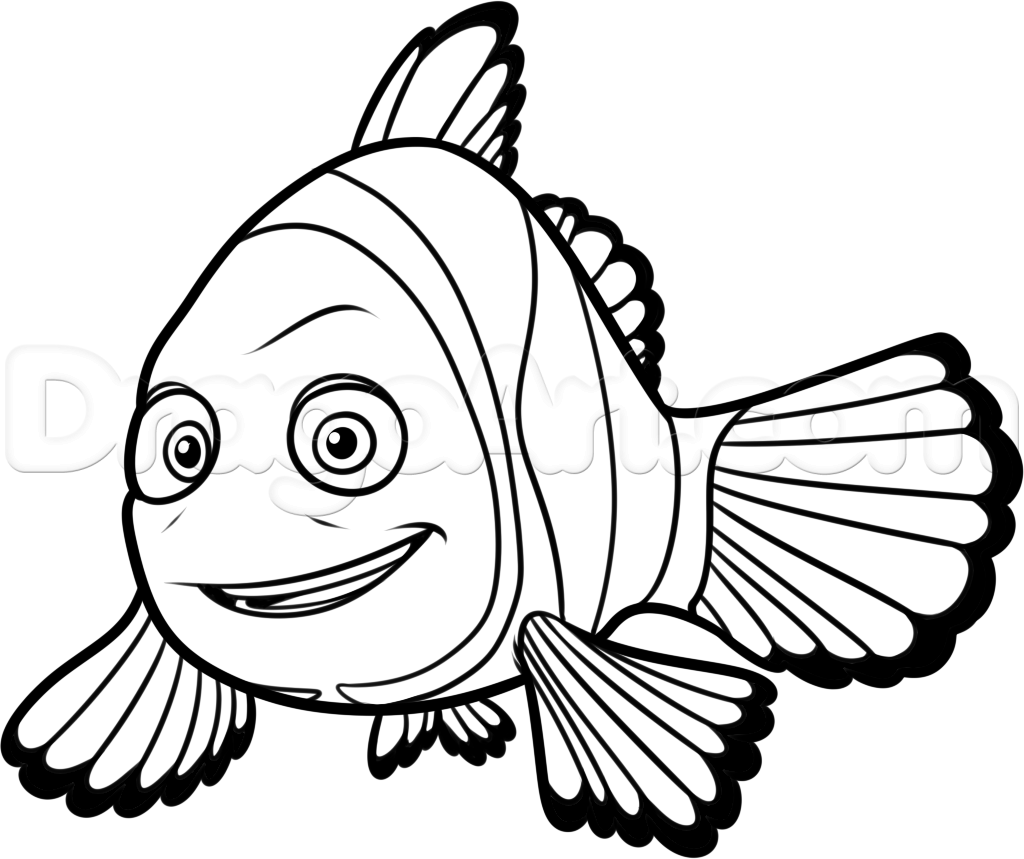 Dory And Nemo Drawing At Getdrawings
