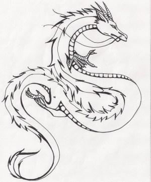 dragon chinese drawing easy drawings sketch dragons getdrawings china cool cartoon coloring watermelon