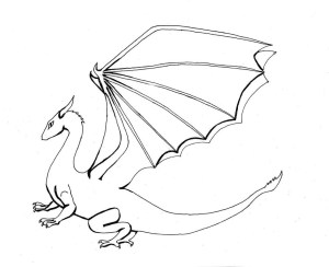 dragon coloring pages easy dragons drawing flying draw printable simple drawings colouring welsh realistic getdrawings step fire sketch bearded library