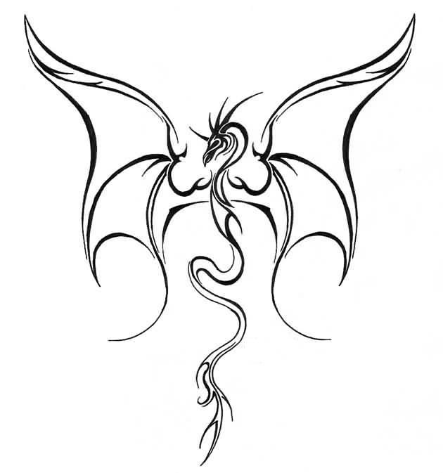 dragon tattoo drawing at