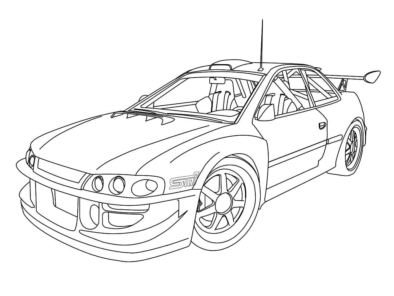 1280x960 outline drawing of car