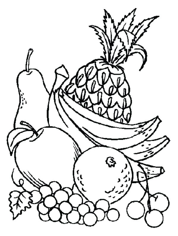 Fresh Coloring Pages Fruit And Vegetables Design