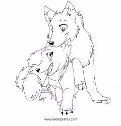 Love Kiss Wolf Drawing