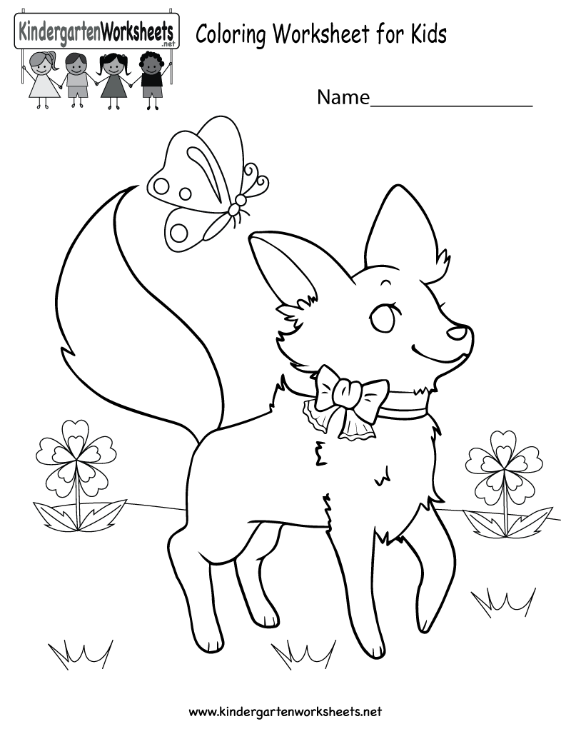Drawing Worksheet For Kindergarten at GetDrawings.com