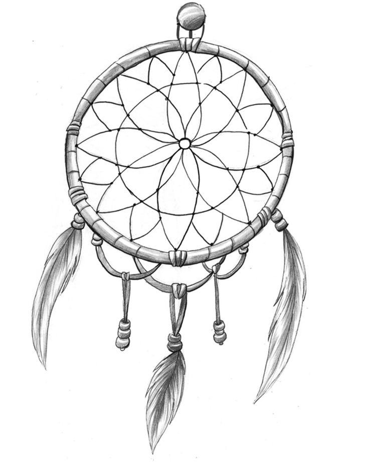 Simple Dream Catcher Drawing : simple, dream, catcher, drawing, Dream, Catcher, Drawing, GetDrawings, Download