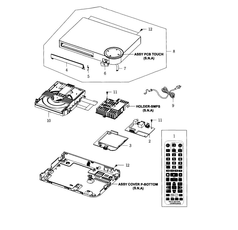 medium resolution of 2545x2456 samsung dvd player parts model bdf5100zajt04 sears partsdirect