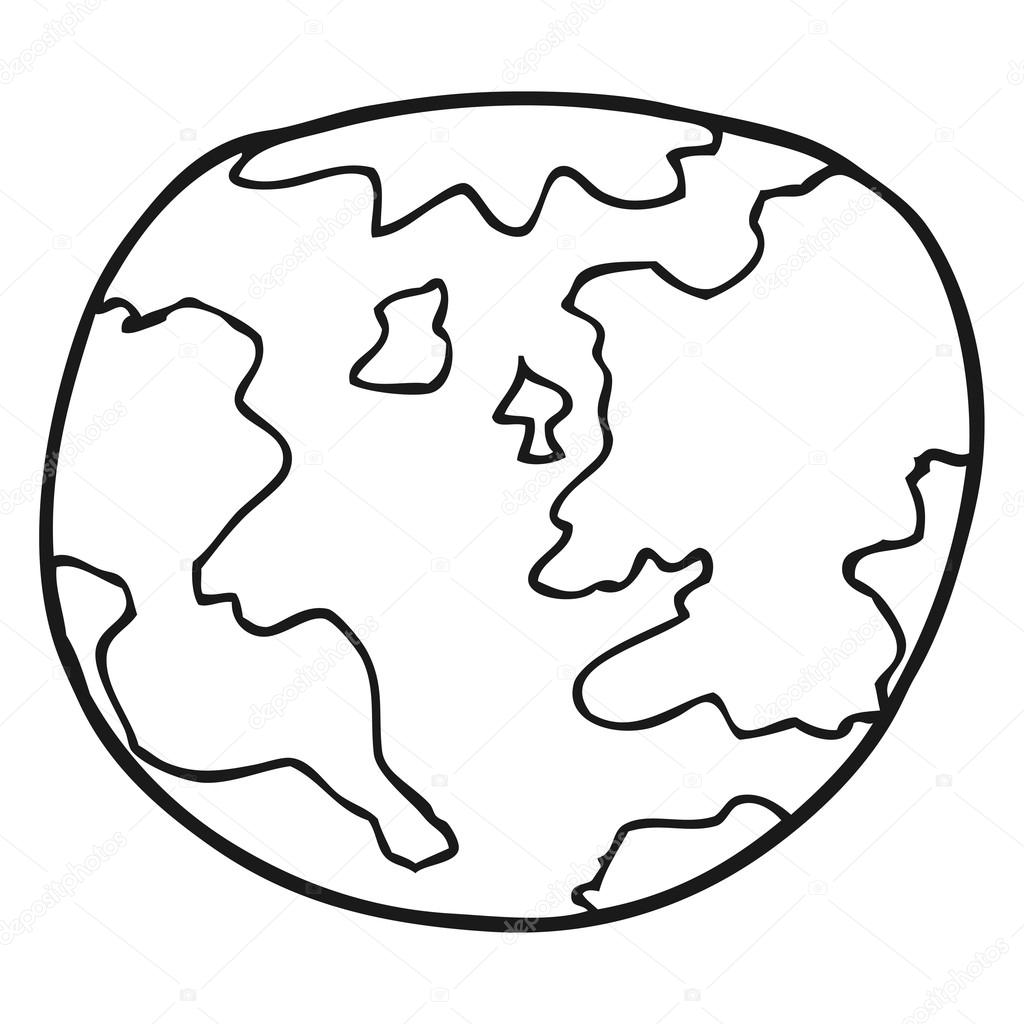 Earth Black And White Drawing At Getdrawings