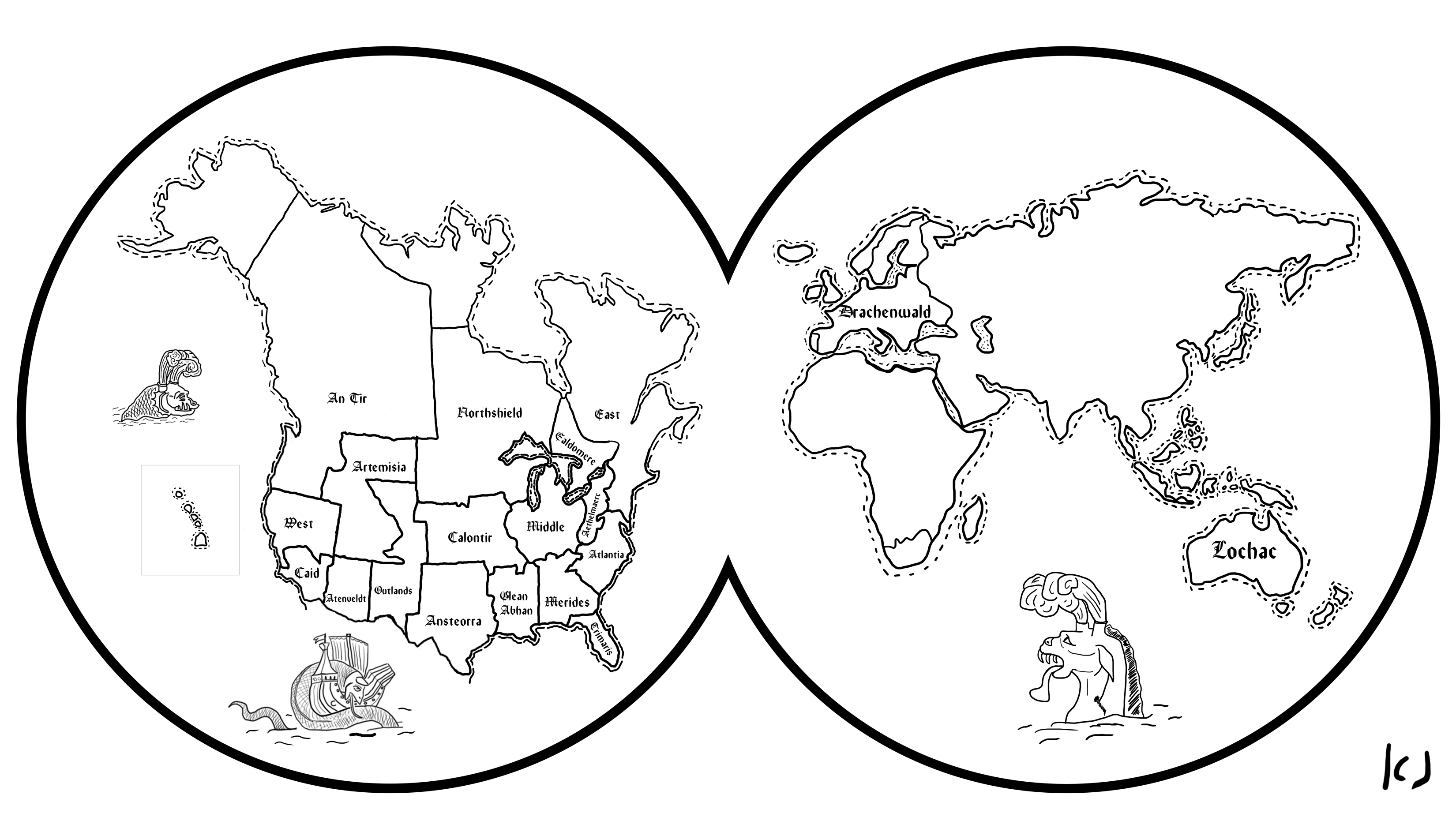 Earth Map Drawing At Getdrawings