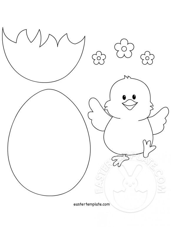 Easter Chick Drawing : easter, chick, drawing, Easter, Chick, Drawing, GetDrawings, Download