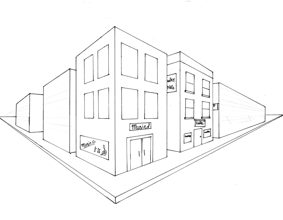Easy 2 Point Perspective Drawing at GetDrawingscom  Free