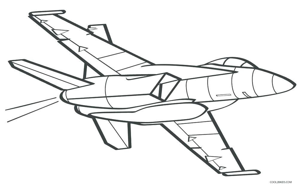 Plane Outline Drawing At Getdrawings Com