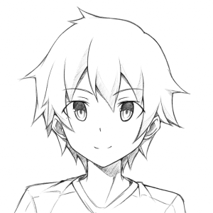 anime boy easy drawing draw drawings getdrawings
