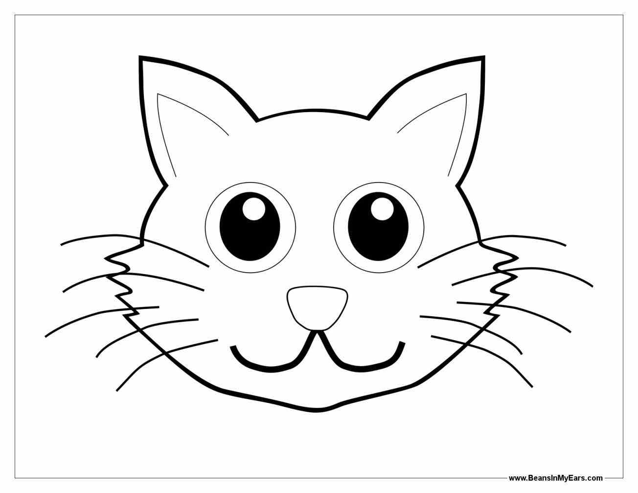 Easy Cat Face Drawing At Getdrawings