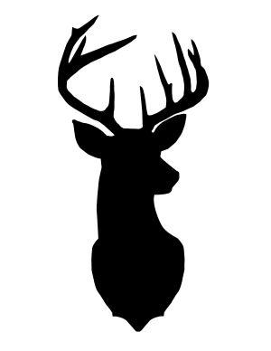 deer head easy drawing silhouette silhouettes gold paper getdrawings