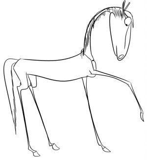 horse drawing horses head simple line step easy drawings outline pencil draw getdrawings colored