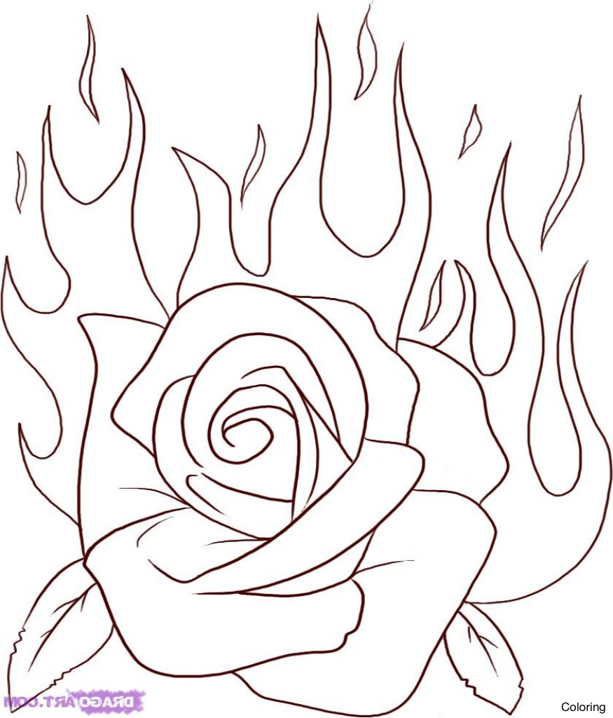 Easy To Draw Rose Flower Kayaflower Co