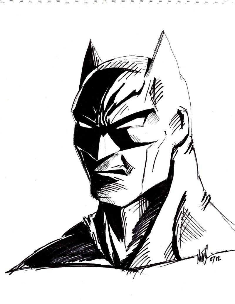 Easy Drawing Of Batman Easy Batman Drawing At Getdrawings Free For