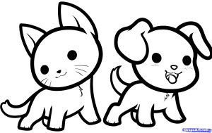 easy drawing dogs dog draw getdrawings
