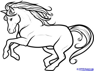 horse drawing stallion draw drawings coloring colour pages step easy dragoart lineart cartoon head clipart kid horses favourites deviantart getdrawings