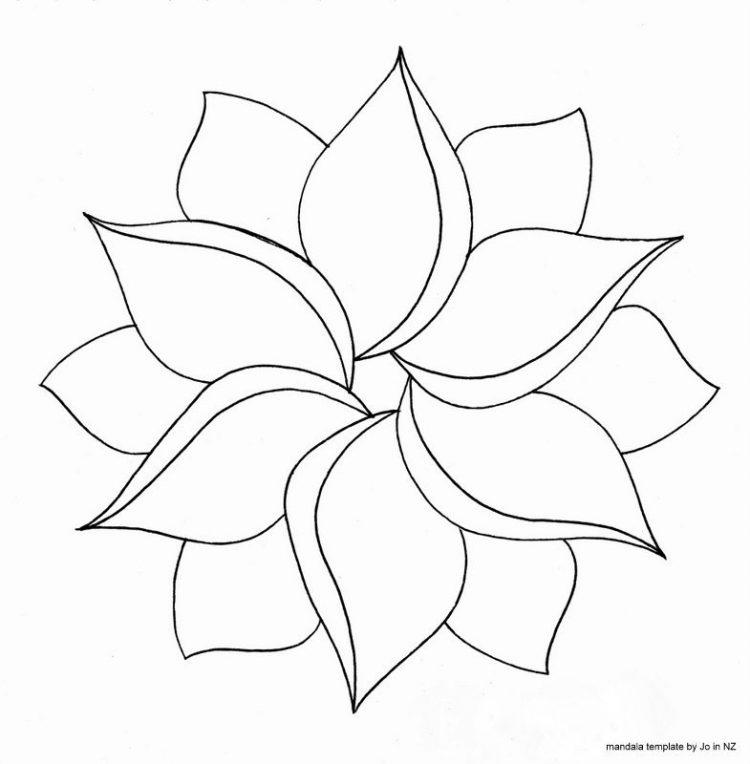 Easy Flowers Drawing Kayaflowerco