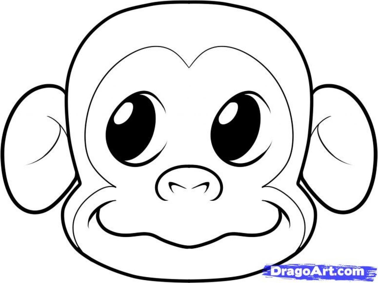 Easy Gorilla Drawing At Getdrawings