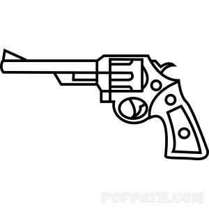 magnum 44 gun easy drawing guns shotgun draw getdrawings