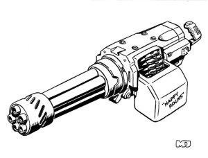minigun gun drawing easy shadowrun mini guns drawings rifle weapons line cool wars star cyberpunk gauss jeff fantasy