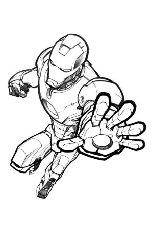 iron marvel drawing avengers avenger drawings thekidkaos armored deviantart easy pencil draw ironman comic coloring sketch colorear para characters pages