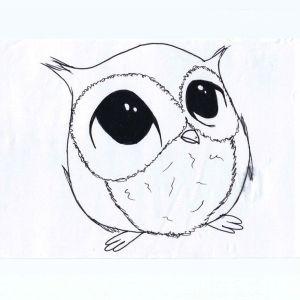 owl easy step drawing draw simple getdrawings