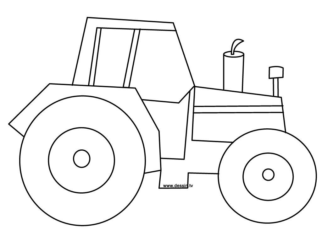 Easy Tractor Drawing At Getdrawings