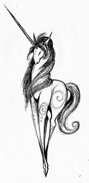 unicorn easy drawing horse drawn getdrawings