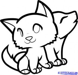 wolf easy drawing cool drawings draw cute nice getdrawings