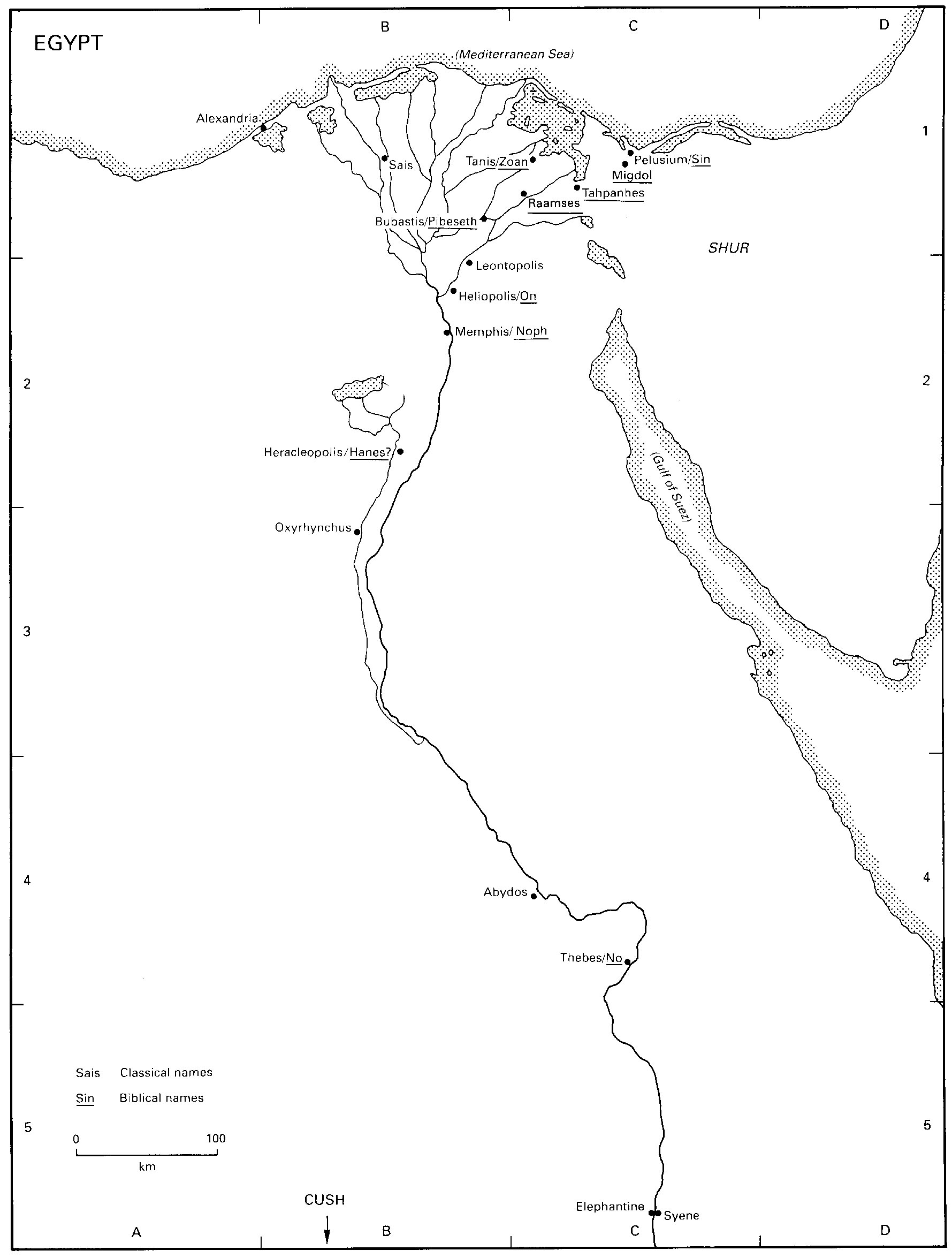 26 Ancient Map Of Egypt