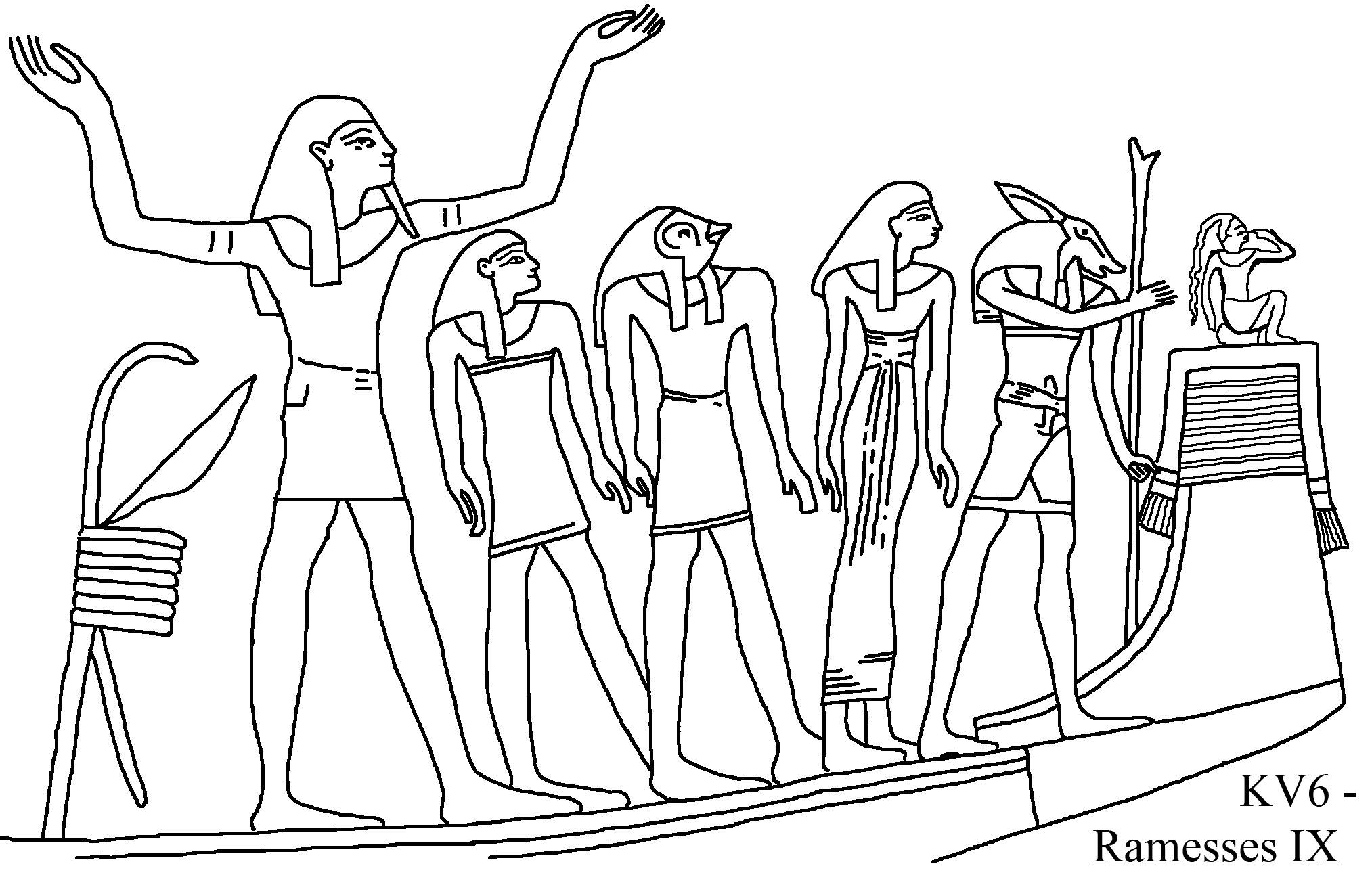 Egyptian Tomb Drawing At Getdrawings