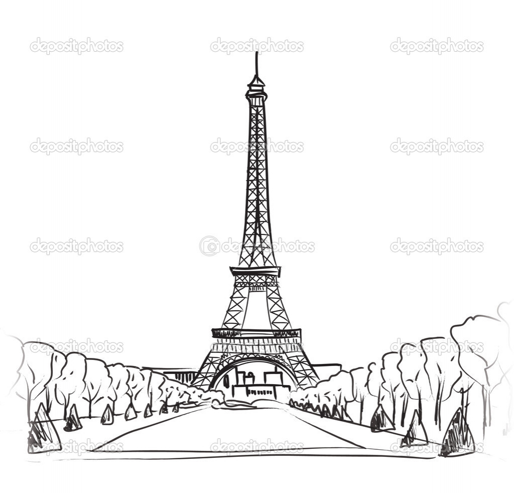 Eiffel Tower Drawing At Getdrawings