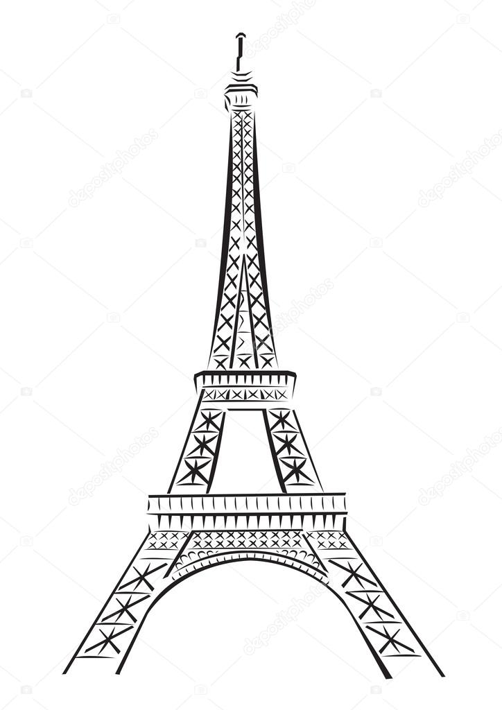 Eiffel Tower Drawing Black And White at GetDrawings Free