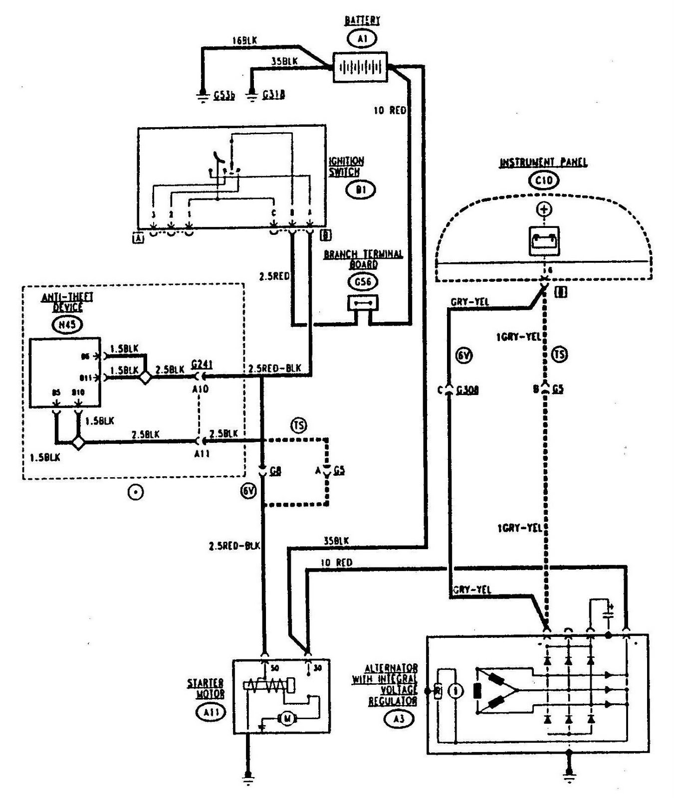 hight resolution of 1351x1600 alfa romeo 155 starting and charging circuit diagram wiringdiagrams