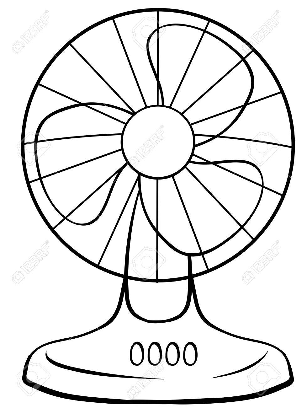 Electric Fan Coloring Pages