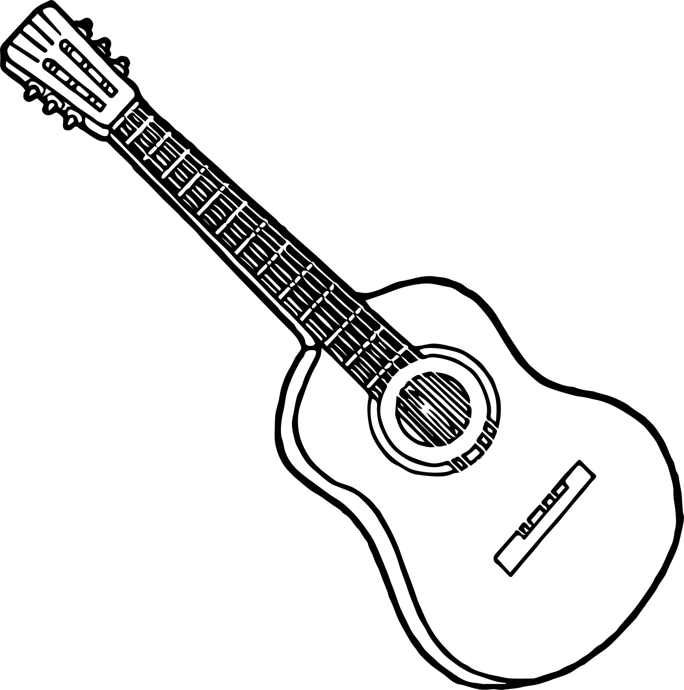 Electric Guitar Line Drawing At Getdrawings