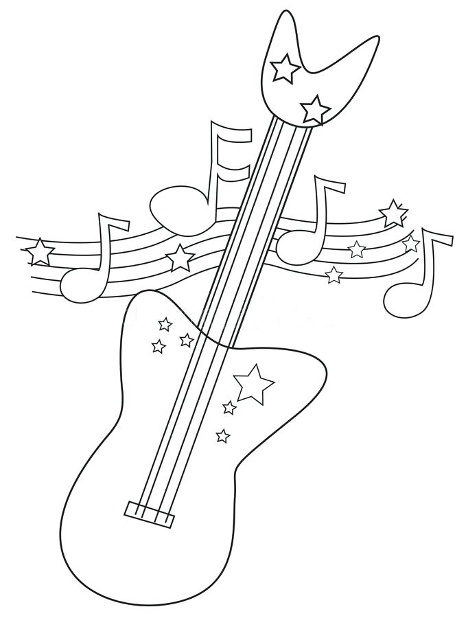 Guitar Headstock Outline Stock Vector Illustration Of Auto