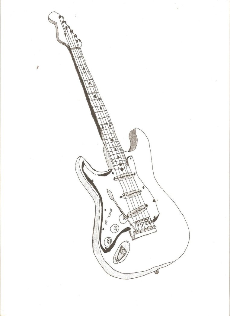 762x1048 big guitar outline drawing