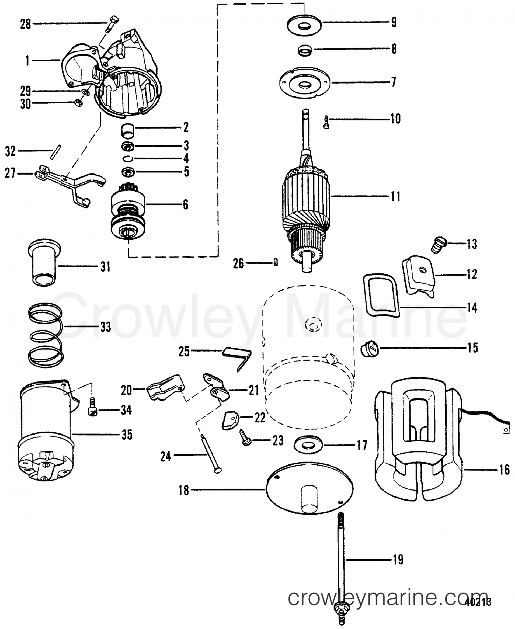 wiring terminals for electric motors