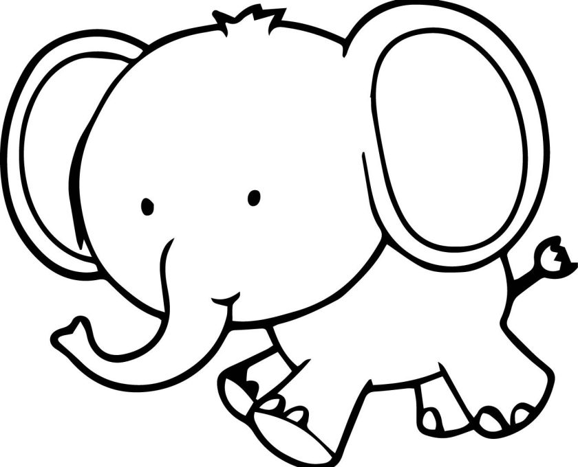 elephant baby drawing at getdrawings  free download