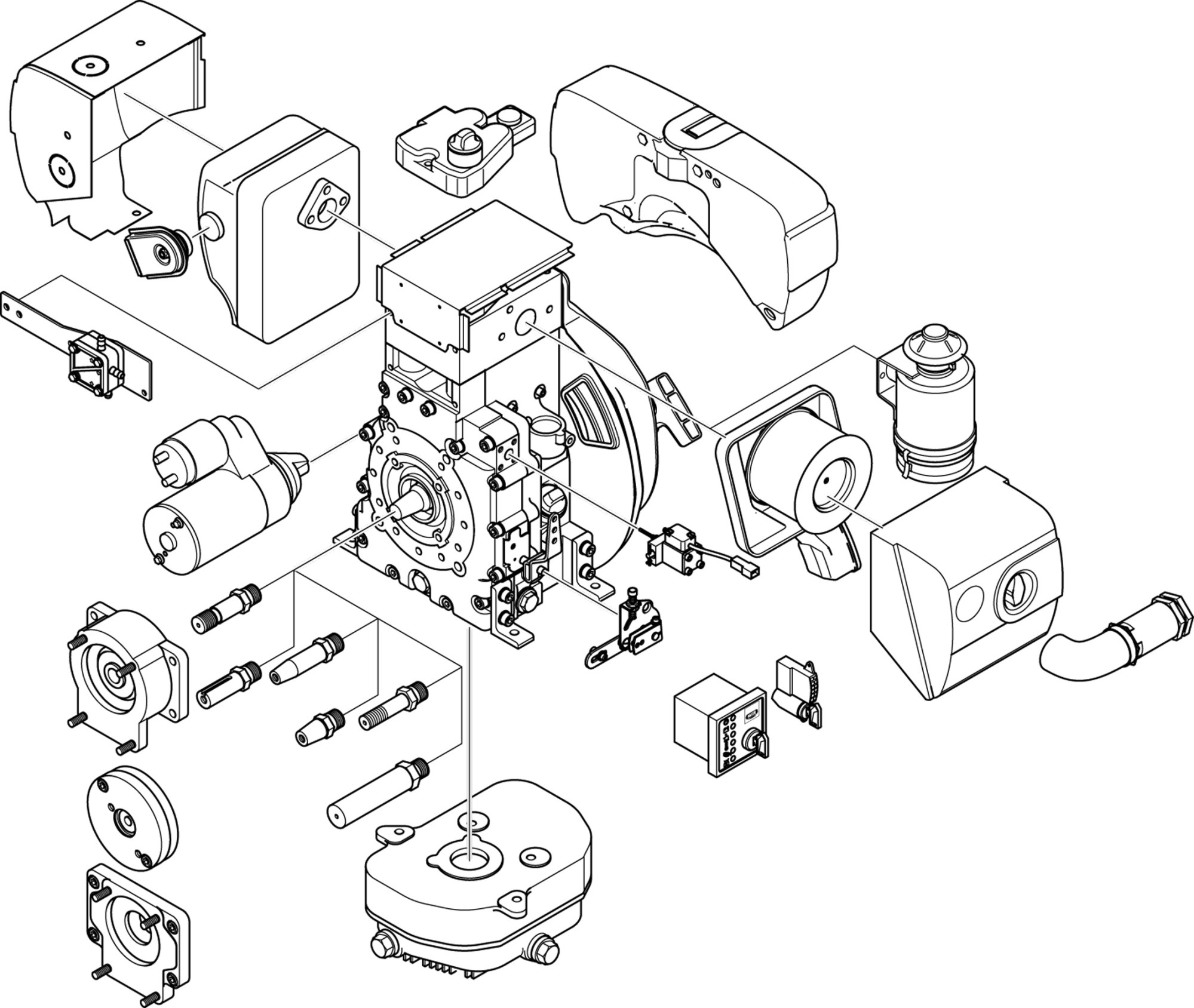 hight resolution of engine parts drawing