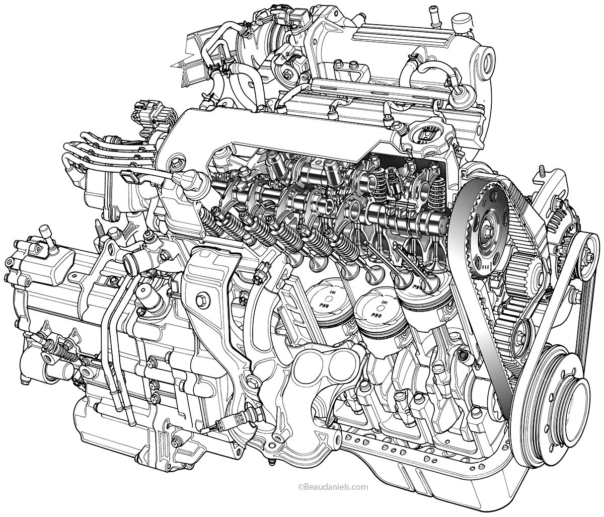 Engines Drawing At Getdrawings