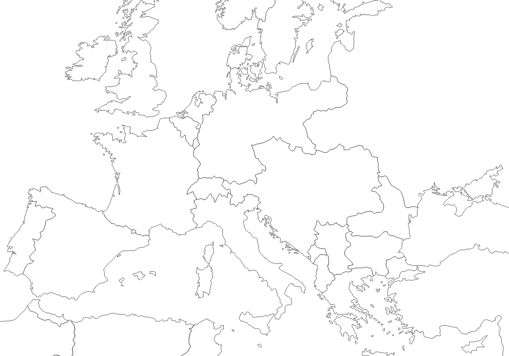 Europe Drawing Map At Getdrawings